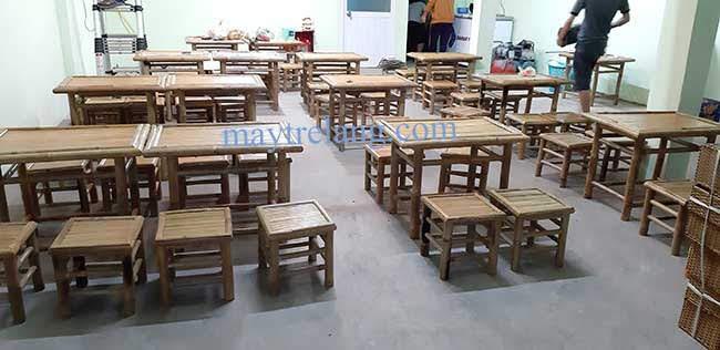bàn ghế tre quán nhậu