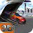 Car Transporter Cargo Plane 3D logo