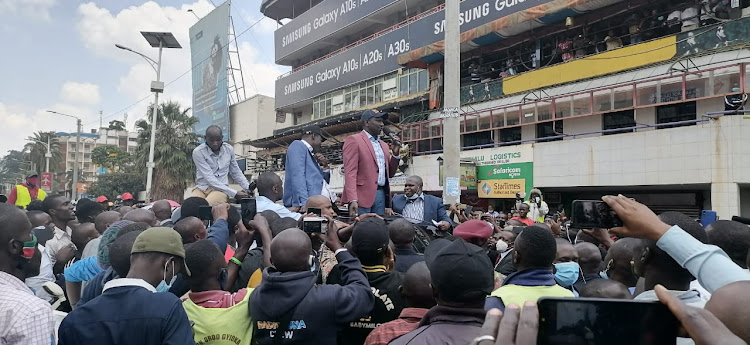 Deputy President William Ruto after he arrived at Kisii County on Thursday, August 10, 2020.