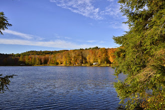 Photo: The Pond with fall colors at Half Moon State Park by Bill Steele