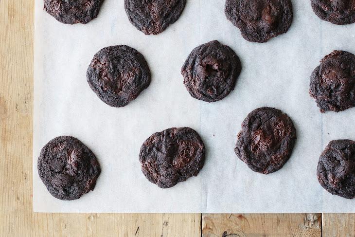Dark Chocolate Cookies with Sour Cherries Recipe | Yummly