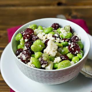 Edamame, Cranberry, & Feta Salad.