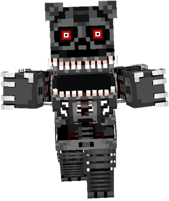 This is Nightmare's Endoskeleton. by:Pinkbear