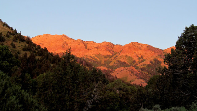 Sunlight on the spine of the Stansbury Range