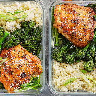 Meal-Prep Honey Sesame Chicken with Broccolini.