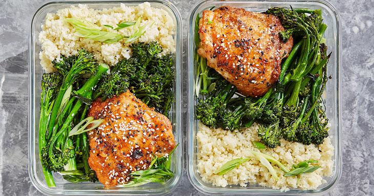 Meal-Prep Honey Sesame Chicken with Broccolini Recipe
