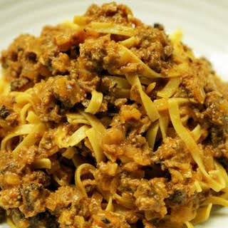 Meat Sauce with Tagliatelle.