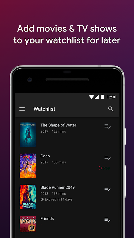 Google Play Movies & TV screenshots