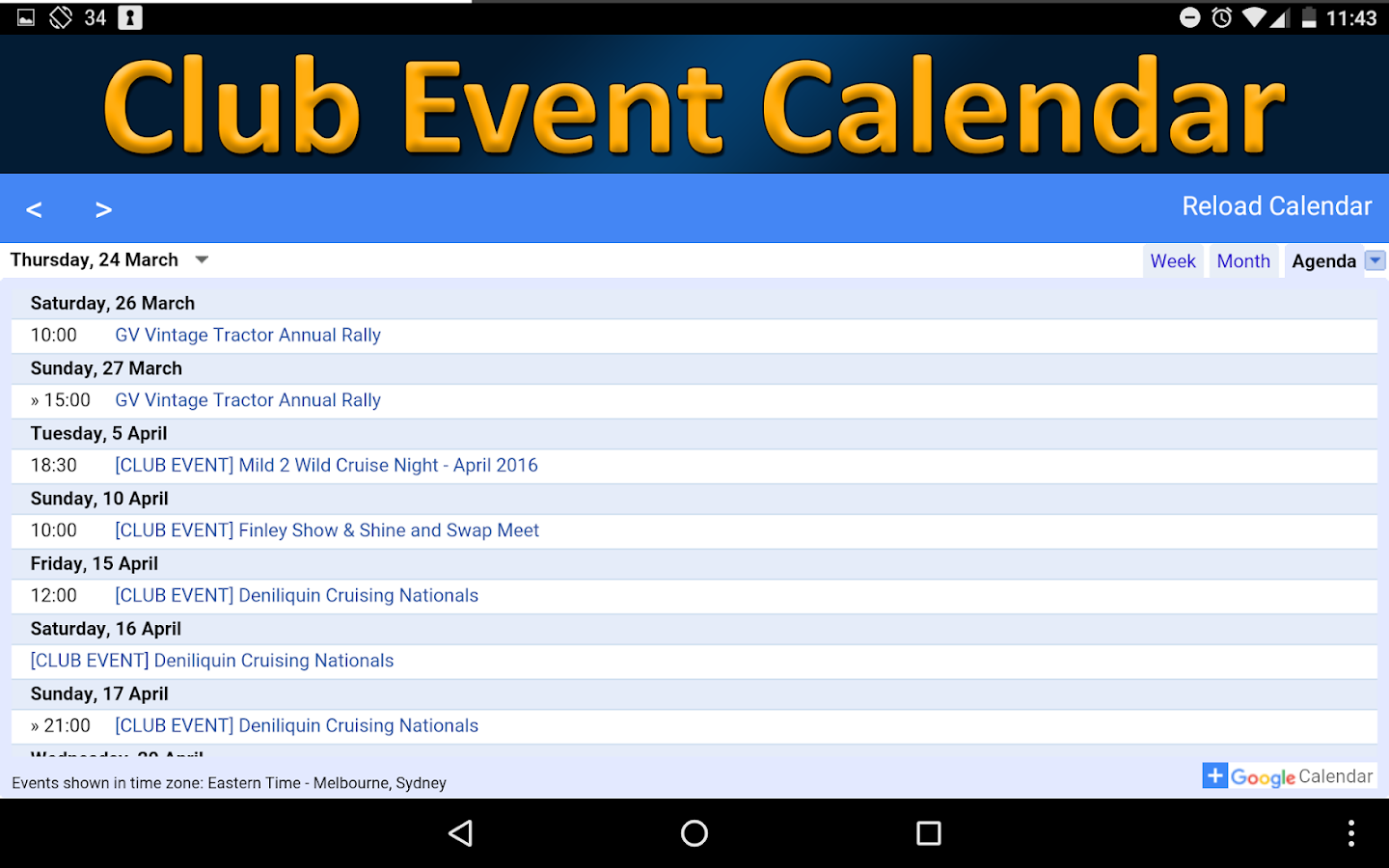 SRVMC - Club App- screenshot
