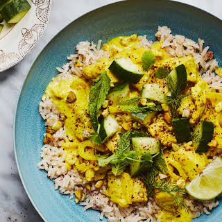 Persian Chicken with Turmeric and Lime.