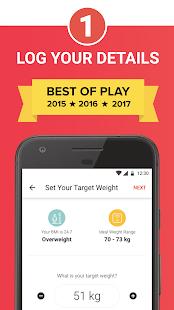 HealthifyMe: Home Workout, Weight Loss & Diet Plan Screenshot
