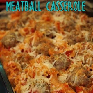 """""""Chicken"""" Parmesan Meatball Casserole #SundaySupper"""