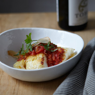 Cod with Tomato Ginger Sauce.