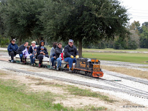 Photo: Engineer Gearld Lee looking right.  Conductor Bill Smith looking left.    HALS Public Run Day 2014-1115 RPW