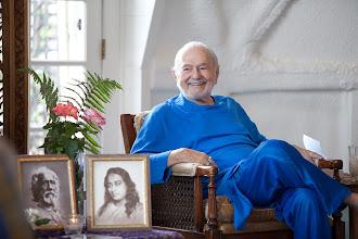 Photo: Barbara: Swami at his home at Ananda Village, 2010
