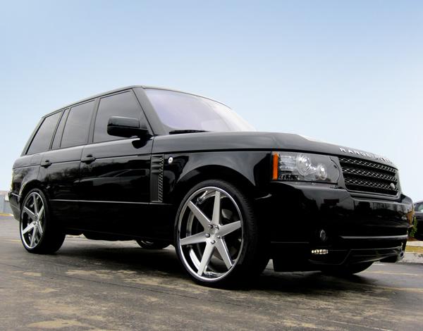 Photo: DUB.1One Six Brushed Wheels on Land Rover Range Rover