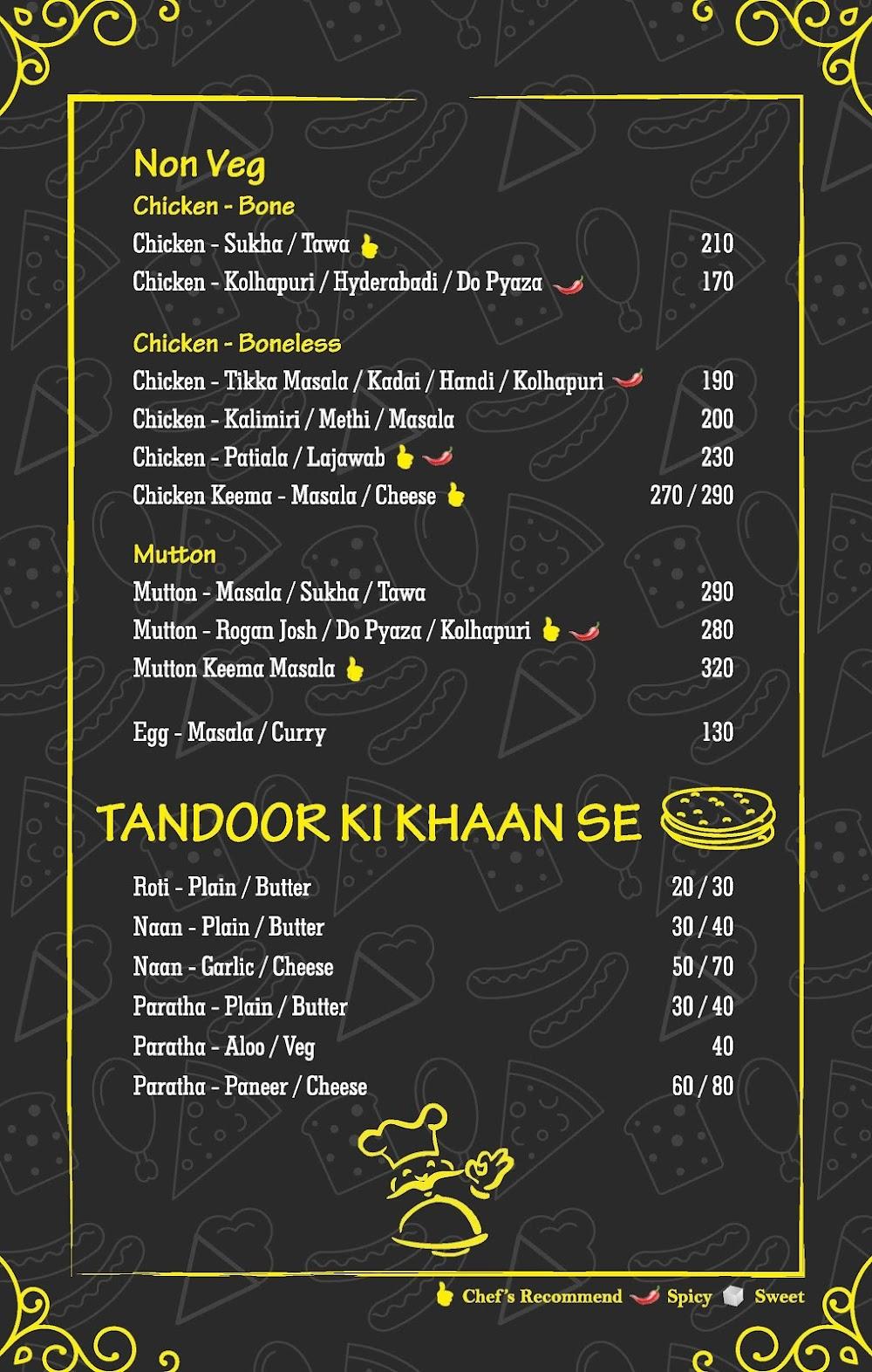 Mumbai Palate menu 1