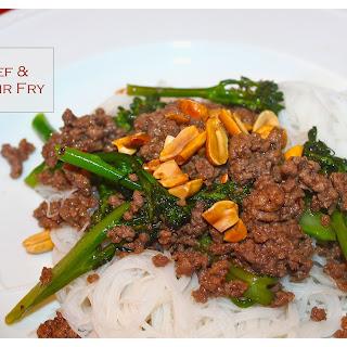 Char Siu Beef & Broccolini Stir-fry.