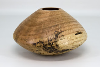 "Photo: Steve Haddix 6 1/2"" x 4"" hollow form [spalted oak]"