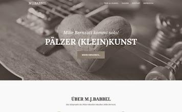 Photo: Referenz Webdesign: M.J. Babbel (HTML5/CSS3, responsive Design, One-Page)