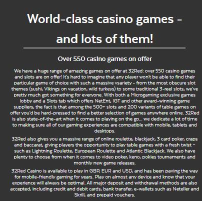 32Red Casino Registration