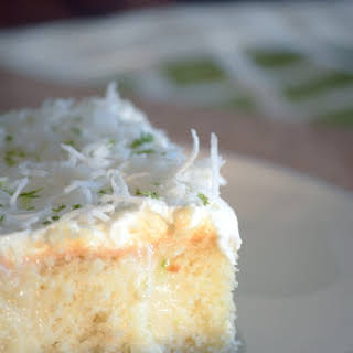 Key Lime Pie Poke Cake.