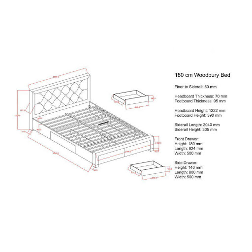 Birlea Woodbury Bed Frame Grey