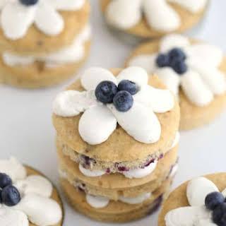 Blueberry Banana Mini Cakes.