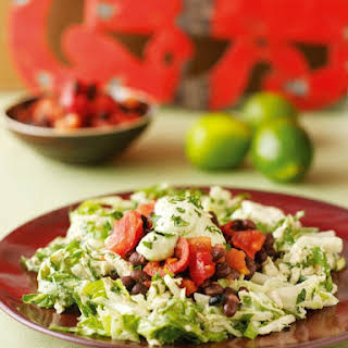 Mexican Chicken or Turkey Salad With Tomato and Black Bean Salsa.