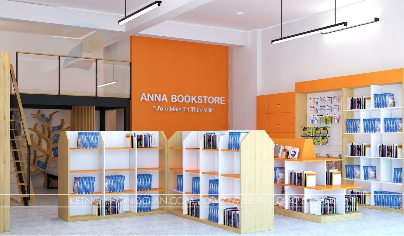 thiết kế nhà sách anna 5
