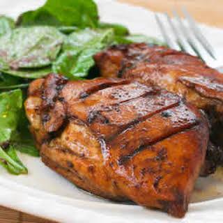 Roasted Chicken Thighs with Black Bean Garlic Marinade.