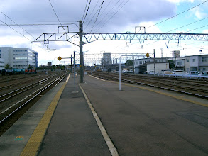 Photo: 旅客ホームの鈴鹿側終端は、伊勢鉄道用旅客ホーム。