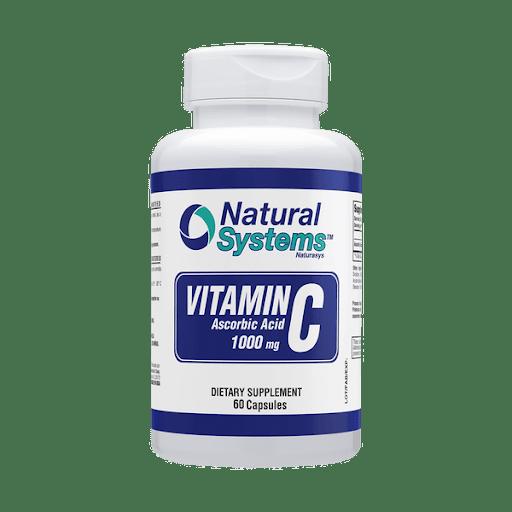 Vitamina C 1000mg 60capsulas natural system