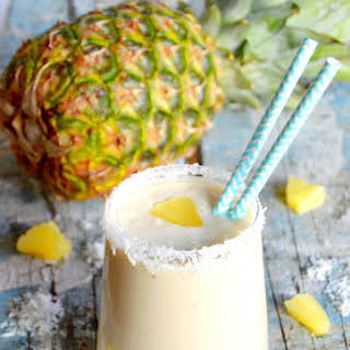 Tropical Pineapple Coconut Smoothie.