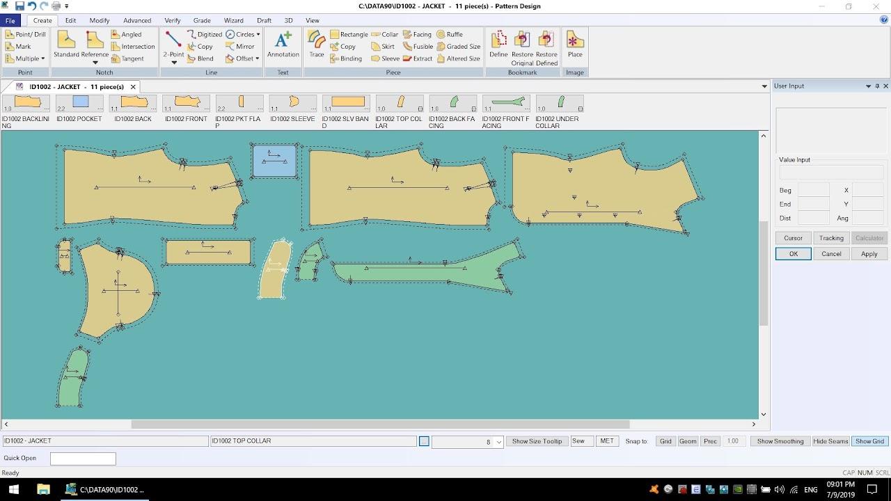 AccumarkV10 Pattern Design-Process Costing Marker: Tạo Sơ Đồ Tính Định Mức Tạm 1