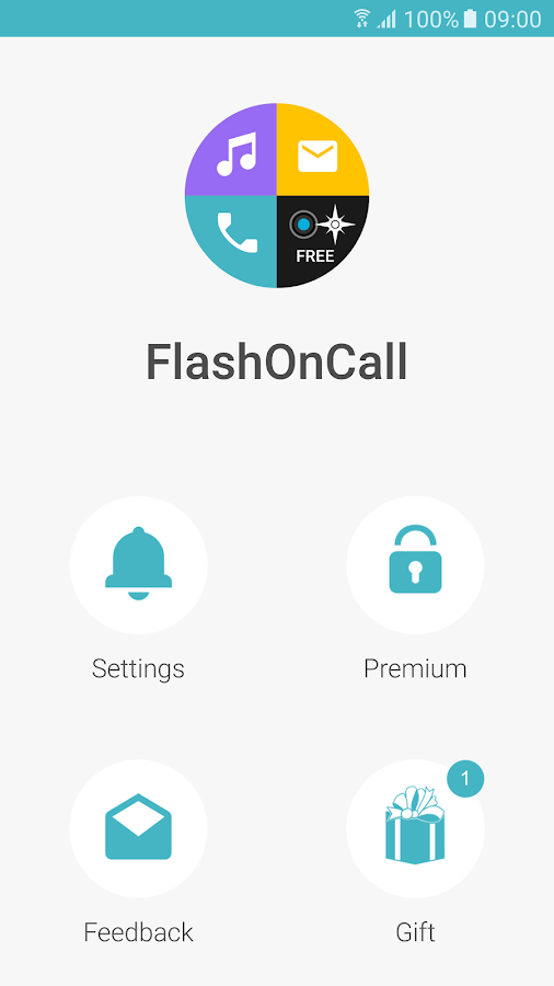 Screenshots of FlashOnCall for iPhone
