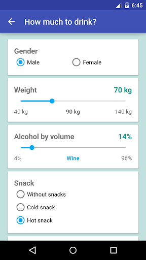 how much alcohol to drink? screenshot 2
