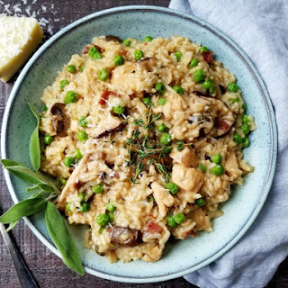 Instant Pot Chicken Marsala Risotto.