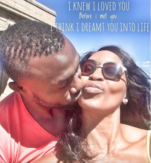 Khabonina and her man are love goals.