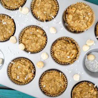 Banana Macadamia Coconut Muffins.