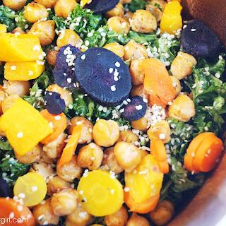 Crispy Chickpea & Kale Salad