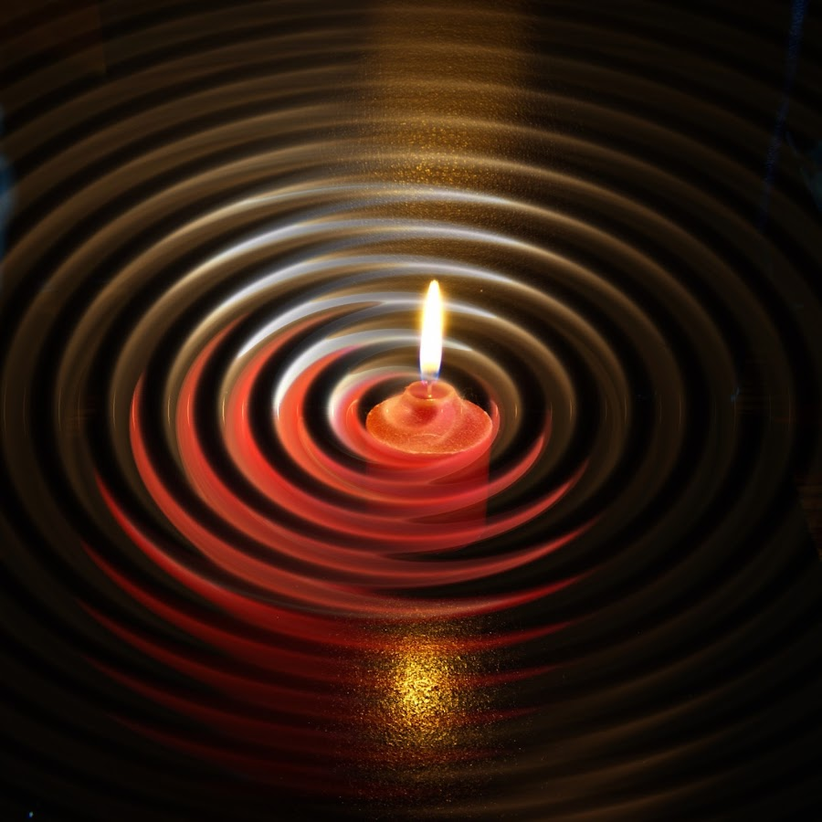 Candle In A Swirl by Bob Burkevics - Abstract Fire & Fireworks ( abstract, candle, color, swirl, composition )