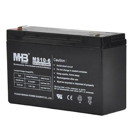 Batteri S40 6V 10Ah