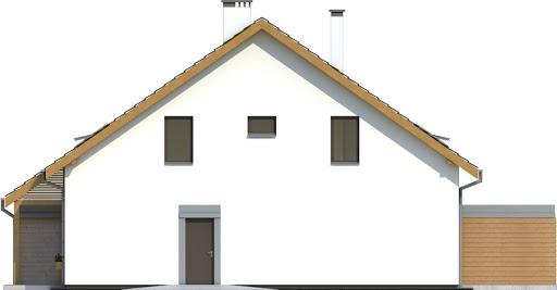 Azalia bez garażu bliźniak B-BL2 - Elewacja prawa
