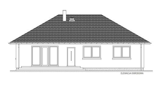 Domek Mokka 053 ES - Elewacja tylna