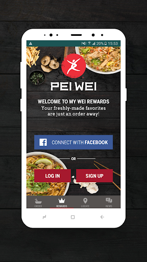 Pei Wei Online Ordering Screenshot