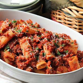Sausage Ragu Rigatoni Recipe