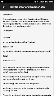 Text Counter and Comparison - náhled