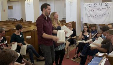 Photo: Sacred Harp Singing School (Workshop) with Fynn Titford-Mock (Norwich) in Hamburg, 17 August 2013