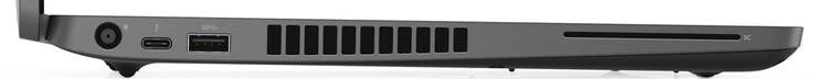 Cạnh trái: power, 1x Thunderbolt 3, 1x USB 3.1 Gen1 Type-A, đầu đọc thẻ thông minh